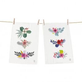 Set 2 kusů utěrek Butter Kings z bavlny Little Bouquet, 70 x 50 cm