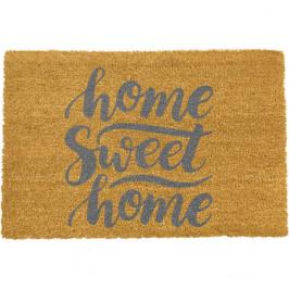 Rohožka z přírodního kokosového vlákna Artsy Doormats Home Sweet Home Grey,40x60cm