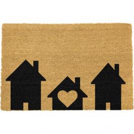 Rohožka z přírodního kokosového vlákna Artsy Doormats Home is Where,40x60cm