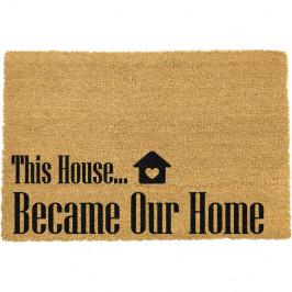 Rohožka z přírodního kokosového vlákna Artsy Doormats Our Home,40x60cm