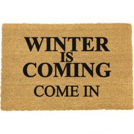 Rohožka z přírodního kokosového vlákna Winter Is Coming,40x60cm cm