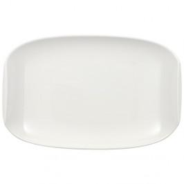 Bílý servírovací talíř z porcelánu Villeroy & Boch Urban Nature, 20,15 x 13,5 cm