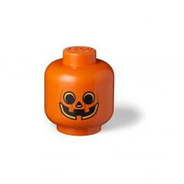 Oranžový úložný box LEGO® Pumpkin Head L