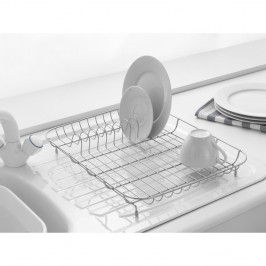 Nízký chromovaný drátěný odkapávač na nádobí Addis, 43 x 33 x 7 cm