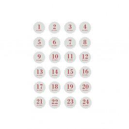 Sada 24 vánočních samolepek Bloomingville Sticker