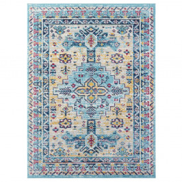 Světle modrý koberec Nouristan Agha, 80 x 150 cm
