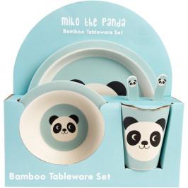Sada dětského bambusového nádobí s pandou Rex London, 5ks