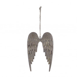 Zlatá závěsná dekorace ve tvaru křídel Ego Dekor