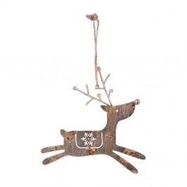 Závěsná vánoční dekorace na stromek Ego Dekor Reindeer, výška 15 cm