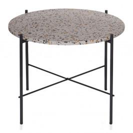Odkládací stolek WOOOD Vayen Terrazzo, ⌀63cm