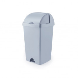 Šedý odpadkový koš z recyklovaného plastu Addis Eco Range, 50 l