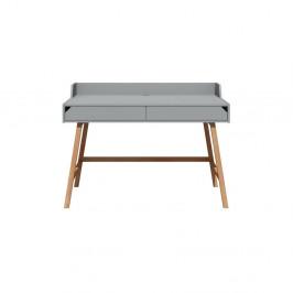 Šedý psací stůl Lotta BELLAMY, šířka 120 cm
