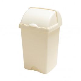 Větší krémový odpadkový koš Addis Roll Top, 31 x 30 x 52,5 cm
