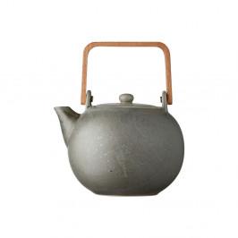 Šedá kameninová konvička na čaj Bitz Basics Grey, 1,2 l