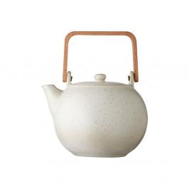 Krémová kameninová konvička na čaj Bitz Basics Matte Cream, 1,2 l
