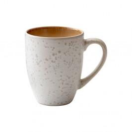 Krémový kameninový hrnek s ouškem Bitz Basics Cream, 300 ml