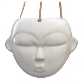 Bílý závěsný květináč PT LIVING Mask, výška 15,2 cm