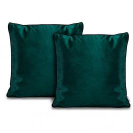 Sada 2 zelených povlaků na polštáře DecoKing Rimavelvet Green, 45 x 45 cm