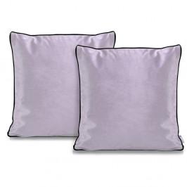 Sada 2 světle fialových povlaků na polštáře DecoKing Rimavelvet Lilac, 45 x 45 cm
