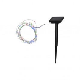 Venkovní solární LED řetěz s barevnými diodami Best Season DewDrop, 50světýlek