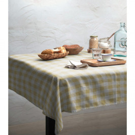 Ubrus Linen Couture Yellow Vichy, 140 x 140 cm