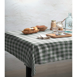 Ubrus Linen Couture Green Vichy, 140 x 200 cm