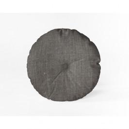 Šedý polštář Linen Couture Cojin Redondo Cool Grey, ⌀ 45 cm