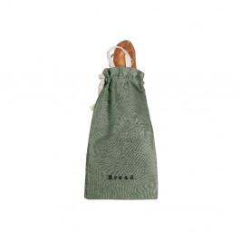 Látkový vak na chléb s příměsí lnu Linen Couture Bag Green Moss, výška 42 cm