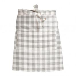 Látková zástěra Linen Couture Delantal de Lino Grey Vichy