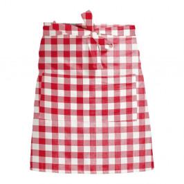 Látková zástěra Linen Couture Delantal de Lino Red Vichy