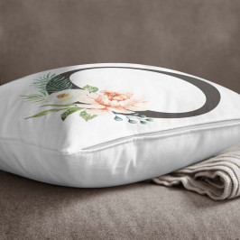 Povlak na polštář Minimalist Cushion Covers Floral Alphabet O, 45 x 45 cm
