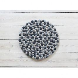 Tmavě šedý kuličkový vlněný podsedák Wooldot Ball Chair Pad, ⌀ 39 cm