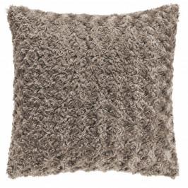 Šedohnědý polštář Tiseco Home Studio Curl, 45 x 45 cm