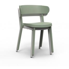 Sada 2 šedohnědých zahradních židlí Resol Casino