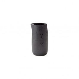 Černý kameninový džbánek na mléko Bitz Basics Black, 0,2 l