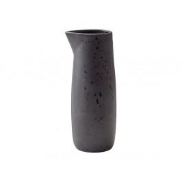Černý kameninový džbánek na mléko Bitz Basics Black, 0,5 l
