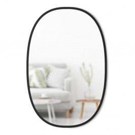 Oválné nástěnné zrcadlo v černém kovovém rámu Umbra Hub