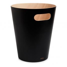 Černý odpadkový koš Umbra Woodrow, 7,5l