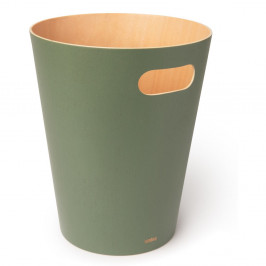 Zelený odpadkový koš Umbra Woodrow, 7,5l