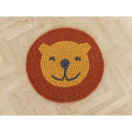 Dětský kuličkový vlněný koberec Wooldot Ball Rugs Lion, ⌀ 90 cm