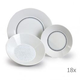 Sada 18 porcelánových talířů s trojúhelníčky Thun Lea