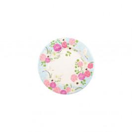 Sada 8 papírových talířů GiviItalia Secret Garden, ⌀ 21 cm