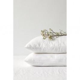 Bílý lněný povlak na polštář Linen Tales, 70 x 90 cm