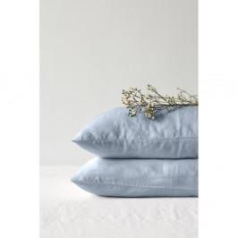 Světle modrý lněný povlak na polštář Linen Tales, 70 x 90 cm