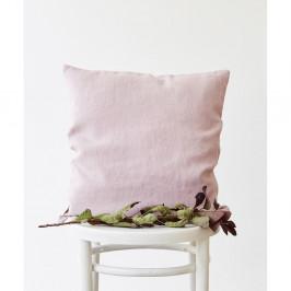 Levandulově fialový lněný povlak na polštář Linen Tales, 45 x 45 cm