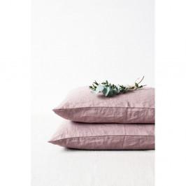 Starorůžový lněný povlak na polštář Linen Tales, 70 x 90 cm