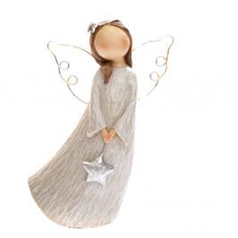 Anděl s hvězdou a svítícími křídly Dakls