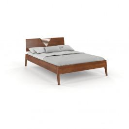 Dvoulůžková postel z bukového dřeva v ořechovém dekoru Skandica Visby Wolomin, 140x200cm