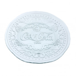 Talíř z recyklovaného skla Ego Dekor Cola, ⌀20cm