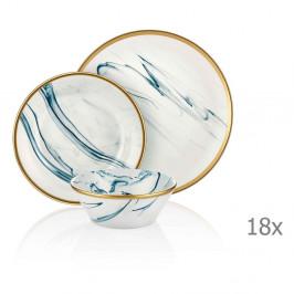 18dílný set porcelánového nádobí Mia Lucid Blues